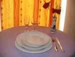 a Formule Confort contient 2 assiette de 23 cm en porcelaine ronde blanche, 1 assiette à dessert en porcelaine ronde blanche, 1 verre à vin, 1 flûte à champagne, 1 fourchette, 1 couteau, 1 petite cuillère, location de vaisselle dans le gers et les landes pour mariage, communion, baptêmes, anniversaire...