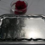 accessoires pour vos tables plateau argenté