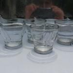 accessoires tasse à café en verre avec anse métal de 70 ml